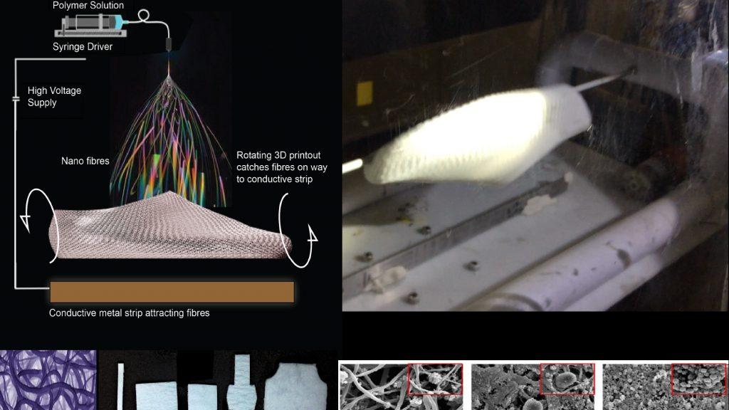 Electrospun shoe