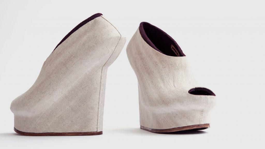 Flax shoe design by Liz ciokajlo
